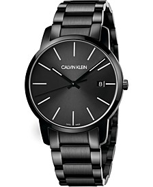 Men's City Black Stainless Steel Bracelet Watch 43mm