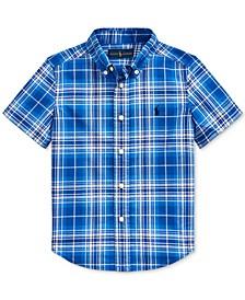 Little Boys Plaid Cotton Poplin Shirt