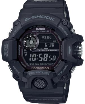 Men's Solar Digital Rangeman Black Resin Strap Watch 53-1/2mm