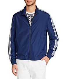 Men's Slim Fit Leopard Hybrid Bomber