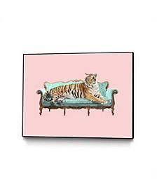 """Robert Farkas Lazy Tiger Art Block Framed 44"""" x 33"""""""