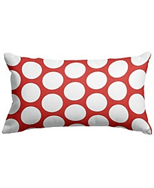 "Large Polka Dot Decorative Soft Throw Pillow Small 20"" x 12"""
