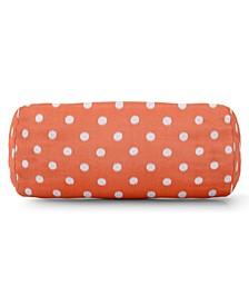 "Ikat Dot Decorative Round Bolster Pillow 18.5"" x 8"""