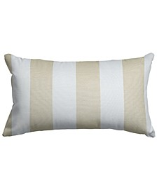 "Vertical Stripe Decorative Soft Throw Pillow Small 20"" x 12"""