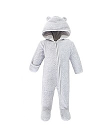Baby Girls and Boys Bear Fleece Sleep and Play