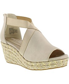 Big Girls Olivia Stretch Wedge Sandal