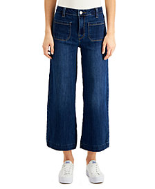 Numero Cropped Wide-Leg with Patch Pockets Jeans