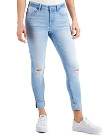 Roll-Cuff Cropped Skinny Jeans