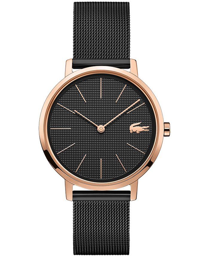 Lacoste - Women's Moon Black Stainless Steel Mesh Bracelet Watch 35mm