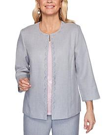 Petite Primrose Garden Lace-Trimmed Jacket
