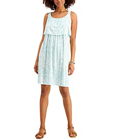 Petite Printed Tiered Dress, Created for Macy's