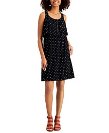 Petite Polka Dot Tiered Dress, Created for Macy's