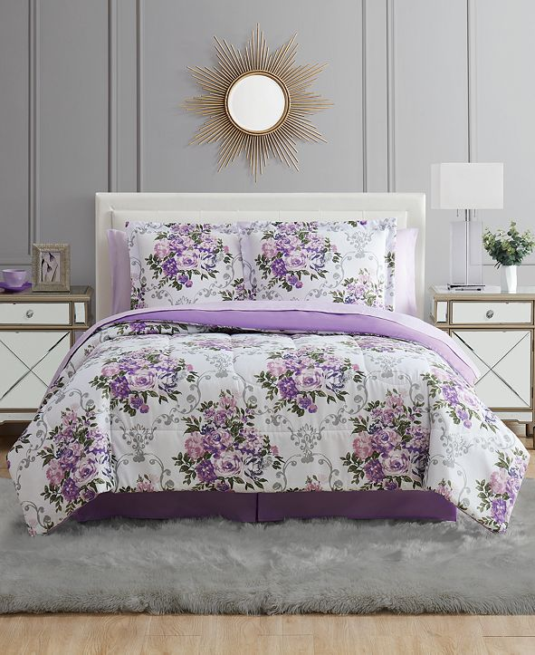 Pem America Floral Bouquet Twin 6PC Comforter Set