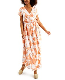Juniors' District Day Floral-Print Maxi Dress