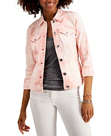Tie-Dyed Denim Jacket, Created for Macy's