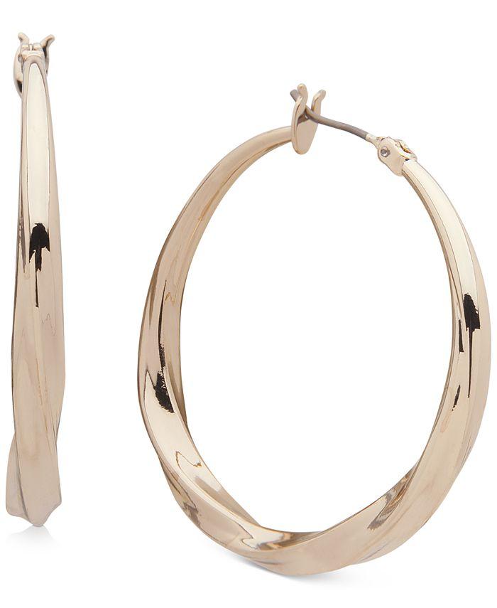 """DKNY - Medium Twist Hoop Earrings, 1.5"""""""