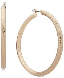 """Large Textured Hoop Earrings, 2.25"""""""