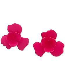 3D Flower Button Earrings