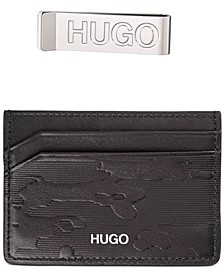 HUGO Men's Leather Card Case & Money Clip