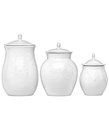 French Perle Set of 3 Canisters