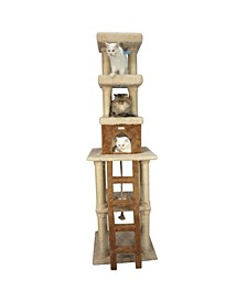 Premium Cat Tree, Multi Levels with Condo, Rope Swing, Ladder and 2 Perches