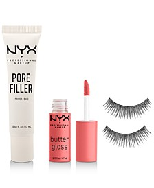 Limited Edition NYX Professional Makeup 3-pc Kit. Only $10 with any NYX purchase, a $16.50 value!