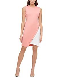 Colorblocked Scuba Dress