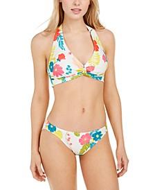 Knotted Halter Bikini Top & Classic Bikini Bottoms