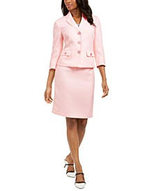3/4-Sleeve Skirt Suit