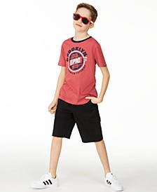 Big Boys Brooklyn T-Shirt & Black Cargo Shorts, Created For Macy's