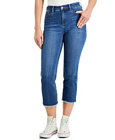 High-Rise Tummy-Control Cropped Jeans