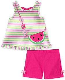 Toddler Girls 2-Pc. Watermelon Top & Shorts Set