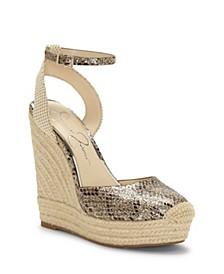 Zestah Wedge Sandals