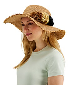 INC Pom-Pom Floppy Hat, Created for Macy's