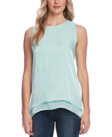 Double-Hem Iridescent Top