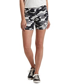 Women's Camo Print Bike Shorts