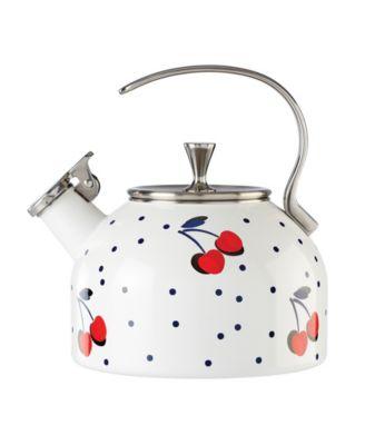 new york Vintage Cherry Dot Tea Kettle