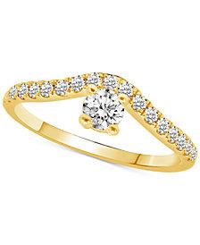 Diamond Chevron Ring (1/2 ct. t.w.) in 14k Gold
