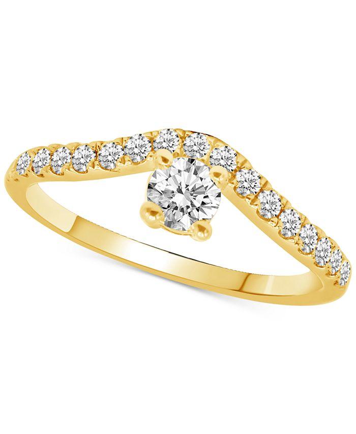 Macy's - Diamond Chevron Diamond Ring (1/2 ct. t.w.) in 14k Gold