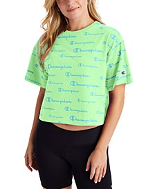 Women's Logo-Print Cropped T-Shirt