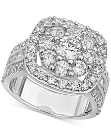 Diamond Halo Cluster Engagement Ring (3-1/2 ct. t.w.) in 14k White Gold