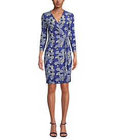 Nomad Printed Faux-Wrap Dress