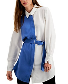 Belted Colorblocked Tunic, Created for Macy's