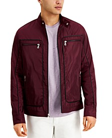 INC Men's Regular-Fit Piped Moto Jacket, Created for Macy's
