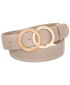 INC Round Tortoiseshell Buckle Panel Belt, Created for Macy's