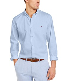Men's Textured Performance Shirt, Created for Macy's