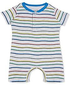 Baby Boys & Girls Striped Cotton Romper