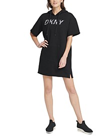 Sport Cotton Logo Hoodie Dress