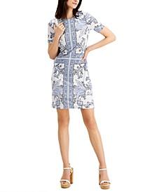 Scarf-Print Dress, Regular & Petite
