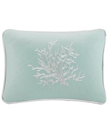 "Coastline 12"" x 16"" Embroidered Oblong Decorative Pillow"
